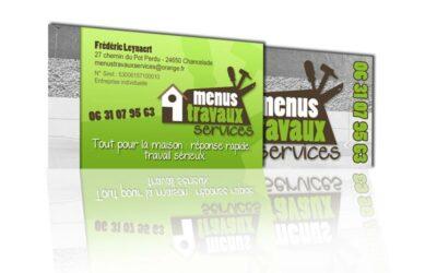 CARTE DE VISITE «Menus Travaux services»