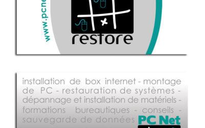CARTE DE VISITE «luxe» PC Net Restore